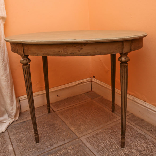 Painted Oval Side Table 1
